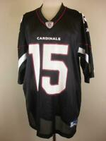 Men's XL Reebok Steve Breaston Arizona Cardinals Alternate Black Jersey NFL #15