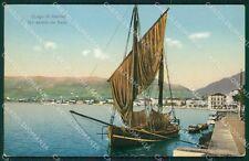 Brescia Salò Lago Garda Barca cartolina QT4720