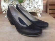 f8536ba456698 ECCO BLACK NUBUCK REAL LEATHER COURT SHOES SIZE UK 6