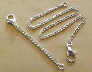 1-30 Inch Silver Plated Necklace /Bracelet Extender Fixed Length Extension Chain