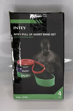 New listing Intey INTRB01 Multicolor Pull Up Assist Exercise Resistance Bands Set Of 4