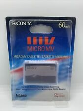 Sony Mgr-60 Micro Mv Camcorder Tape Pack of 1 piece 60 minute cassette brand new