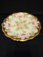Vintage Elite Works Limoges China Plate. Hand Painted and Signed