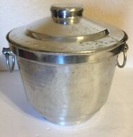 Vintage Retro Hammered Handled Ice Bucket Gently Used Condition