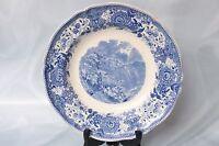 Rare Vintage Villeroy & Boch Porcelain Blue BURGENLAND Pattern Soup Bowl S:17015