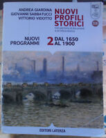 NUOVI PROFILI STORICI VOL.2 NUOVI PROGRAMMI - A.GIARDINA G.SABBATUCCI - LATERZA
