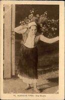 """Feldpostkarte Militär Feldpost 1916 1. Weltkrieg Russische Typen """"Eine Bäuerin"""""""