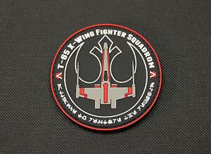 Star Wars X-Wing Red Squadron PVC Patch Rebel Alliance Poe Dameron