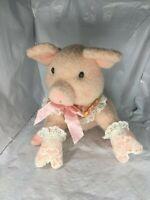 Hallmark Crayola Storybook Friends Penelope Pig plush 1997 Vintage Free Shipping