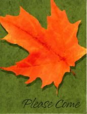 Autumn Fall Leaf Leaves Thanksgiving Hallmark Invitations - Set of 8