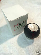 TRD 6 Speed Leather Manual Gear Shift Knob Toyota Lexus is200 Supra Celica Aygo