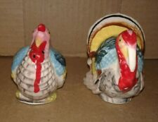 Vintage~CHASE~Turkey Salt & Pepper Shaker Set~Handpainted Japan