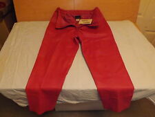 Women's Via Accenti Size [H6] Pink Leather Stretch Pants New