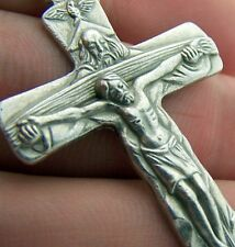 God The Father Pectoral Crucifix Italy Cross Silver Plate Metal from Italy MRT