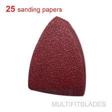 25 Pack: 60 Grit Multi-Tool Finger Size Sanding Sheets - Fein, Bosch, Dremel +