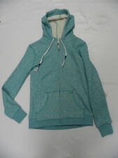 Roxy Womens Before Dark Zip Front Hoodie Sweater Mint Green Sz Small New