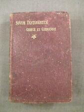"""GERMAN BOOK """"NOVUM TESTAMENTUM"""", STUTTGART 1904"""
