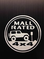 Mall Rated JEEP Trail Rated Badge Decal Sticker You pick COLOR CAR window Truck