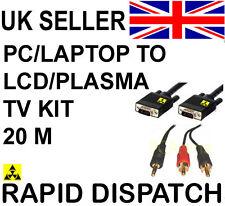 """PC portatile per Plasma LCD TV Connection Kit Cavo 20m 60 """""""