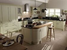 Milbourne Alabaster Kitchen, Rigid Built Contemporary Kitchen, Shaker Kitchens