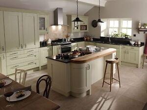 Milbourne Alabaster Kitchen, Rigid Built Contemporary Kitchen, Shaker Kitchens