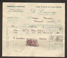 """LA ROCHELLE (17) USINE de MATELAS """"D. LESAUVAGE"""" en1937"""