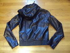 BILLABONG BIKER MOTORCYCLE BLACK JACKET COAT RN# 99064 SIZE M HOODED VERY NICE!