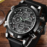 Men Military Army High Quality Analog Digital Quartz Canvas Wrist Watch Sport US