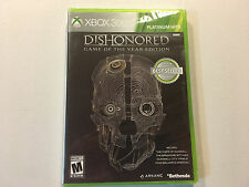 Xbox 360 Dishonored Game of the Year Edition Platinum Brand New Factory Sealed