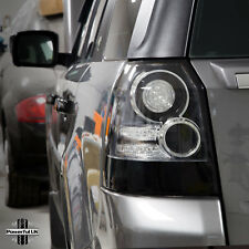"FUMATO colorata ""BLACK EDITION 'LED Posteriore Luci Land Rover Freelander 2 lampada di coda"