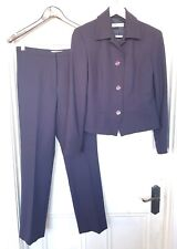 ANTHEA CRAWFORD size 10 classic Navy Wool Pant Suit - stunning