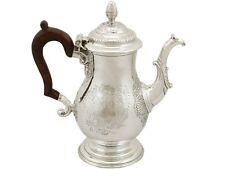 Antique George II Newcastle Sterling Silver Coffee Pot 1744