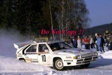 Jean-Claude Andruet Citroen BX4TC Swedish Rally 1986 Photograph