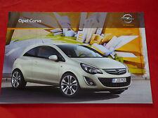 OPEL Corsa D Selection Edition Navi Innovation OPC Prospekt Brochure von 2012