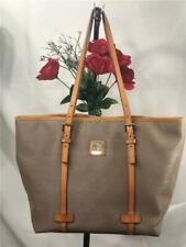 Liked New~Dooney & Bourke Taupe Saffiano Leather East West X Large Shopper Bag