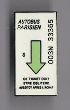 RARE PINS PIN'S .. TRAIN RAILWAYS RATP METRO SNCF BUS TICKET BILLET PARIS 75~EL