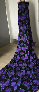 Purple ROSE RAYON 2.8 MetresX 150 cm Stunning With Black Background