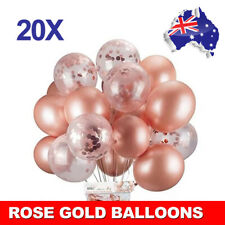 20pcs Rose Gold Confetti Balloons Birthday Marriage Party Decoration GIFT AU