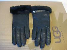 Ugg Leather Smart Black Women Gloves US Size L