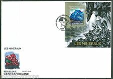 CENTRAL AFRICA 2014 MINERALS SOUVENIR SHEET  FIRST DAY COVER