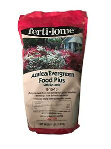 Azalea Evergreen Food Plus With Systemic 9-15-13 Feeds Protects From Insects 4Lb
