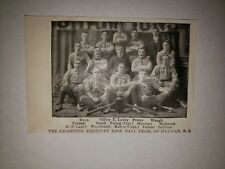The Champion Resolute Baseball Team Halifax Nova Scotia 1900 Team Picture