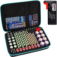 Battery Organizer, 220+ Batteries Storage Case with Tester Checker(BT168), Garag