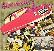 """GENE VINCENT """"20 GREATEST"""" ROCK & ROLL 70'S LP CAPITOL 90053 JAPON !"""