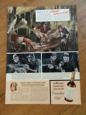 1941 Canadian Club Whiskey Ad Devil's Caves Australia