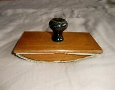 Antique / Vintage Wooden Ink Blotter & Papers
