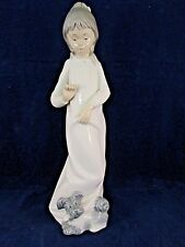NAO BY LLADRO STANDING GIRL WITH DOG FIGURINE