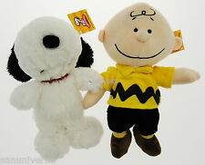 2 PELUCHE PLUSH DOLL THE PEANUTS-SNOOPY DOG,CHARLIE BROWN woodstock,linus,comics