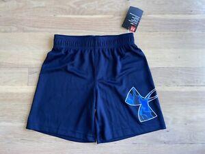 Boys blue under armour camo logo shorts size 5 nwt