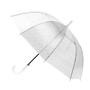 Polka Dot See-Thru Premium Clear Umbrella (UM5002)